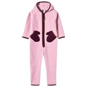 Molo Unisex Childrens Clothes Fleeces Pink Udo Fleece Onesie Carnation Pink
