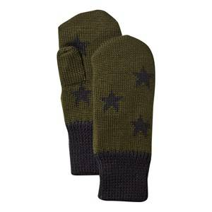 Molo Unisex Childrens Clothes Gloves and mittens Green Snowfall Mittens Hidden Green