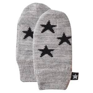 Molo Unisex Childrens Clothes Gloves and mittens Grey Snowflake Mittens Grey Melange