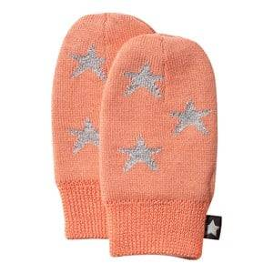 Molo Unisex Childrens Clothes Gloves and mittens Pink Snowflake Mittens Peaches