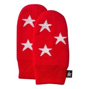 Molo Unisex Childrens Clothes Gloves and mittens Red Snowflake Mittens True Red
