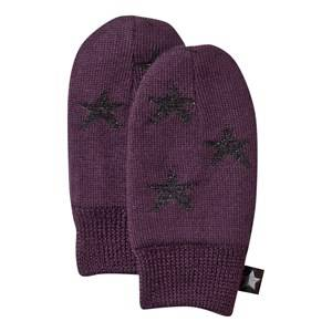 Molo Unisex Childrens Clothes Gloves and mittens Purple Snowflake Mittens Plum Perfect