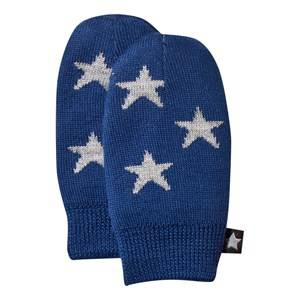 Molo Unisex Childrens Clothes Gloves and mittens Blue Snowflake Mittens Estate Blue