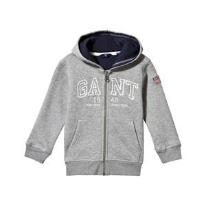 Gant Boys Childrens Clothes Jumpers and knitwear Grey Logo Zip Hoodie Grey