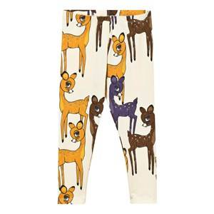 Mini Rodini Unisex Childrens Clothes Bottoms Brown Roe Deer Leggings Brown