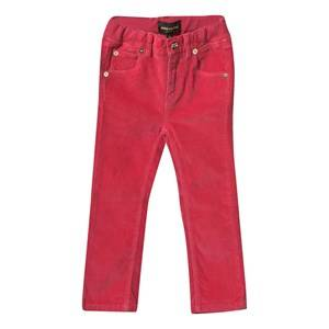 Mini Rodini Unisex Childrens Clothes Bottoms Pink Corduroy Pants Puppy Fit Pink