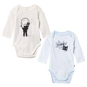 Karl Lagerfeld Kids Unisex Childrens Clothes All in ones Blue Baby Body 2-Pack Ciel Chine