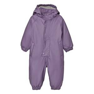 Mini A Ture Unisex Childrens Clothes Coveralls Purple Reinis Rainsuit Purple Heart