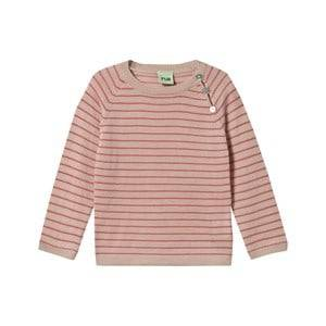 FUB Girls Childrens Clothes Tops Beige Baby Striped Blouse Beige/Raspberry
