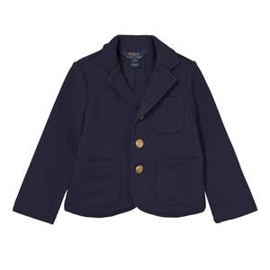 Image of Ralph Lauren Girls Childrens Clothes Coats and jackets Navy Cotton-Blend Blazer French Navy