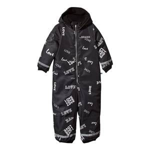 The BRAND Unisex Private Label Coveralls Black Winter Overall Black Love