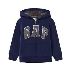 GAP Boys Childrens Clothes Jumpers and knitwear Blue Cozy Logo Zip Hoodie Elysian Blue
