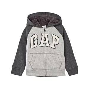 GAP Boys Childrens Clothes Jumpers and knitwear Grey Cozy Logo Zip Hoodie Grey