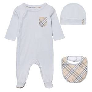 Burberry Boys Childrens Clothes Clothing sets Blue Baby Gift Set Ice Blue