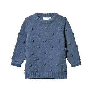 Mini Rodini Unisex Childrens Clothes Jumpers and knitwear Blue Denim Knitted Sweater Blue Melange