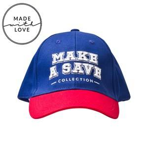 The BRAND Unisex Headwear Blue Make A Save Cap Red/Blue