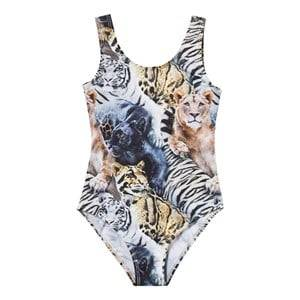 Molo Girls Swimwear and coverups Multi Nika Swimsuit Wild Cats