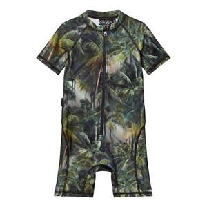 Molo Unisex Swimwear and coverups Green Neka Swimsuit Camo Palms