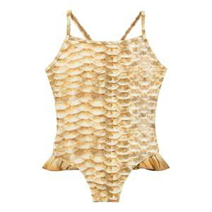 Molo Girls Swimwear and coverups Gold Noona Swimsuit Gold Fishshell