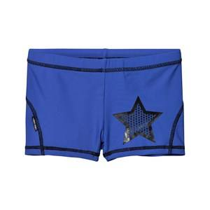 Molo Boys Swimwear and coverups Multi Norton UV Solid Trunks Deep Sea Blue
