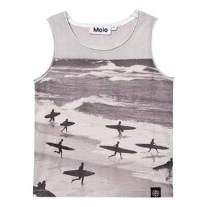 Molo Boys Tops Black Ronoy Tank Top No/S Running Surfers