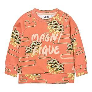 Molo Girls Jumpers and knitwear Pink Marina Sweatshirt Nouveau Clouds