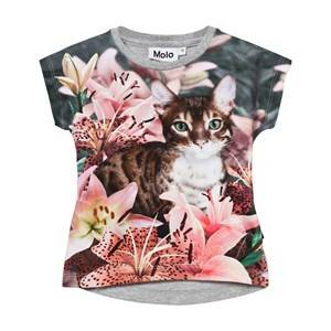 Molo Girls Tops Multi Ragnhilde T-Shirt Lily Tiger
