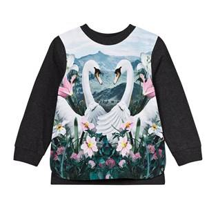 Molo Girls Tops Blue Elvira T-Shirt Swans