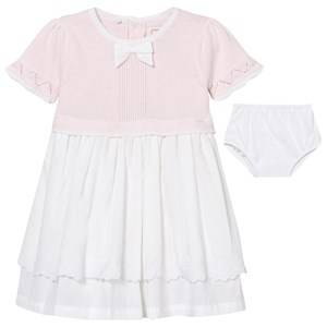 Emile et Rose Girls Dresses Pink Kamelia Pale Pink and White Dress with Knickers