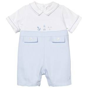 Emile et Rose Boys All in ones Blue Pale Blue and White Keenan Romper