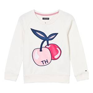 Tommy Hilfiger Boys Jumpers and knitwear Cream Off White Cherry Print Sweater