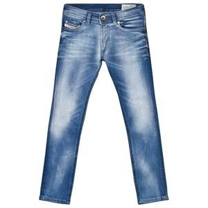 Diesel Boys Bottoms Blue Light Wash Sleenker Slim Fit Jeans