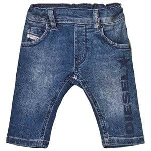 Diesel Boys Bottoms Blue Blue Mid Wash Jog Jeans with Adjustable Waistband