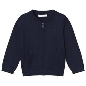 Burberry Boys Jumpers and knitwear Navy Check Detail Cotton Cardigan Navy