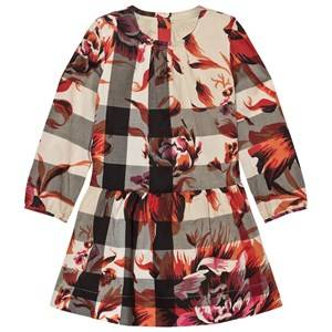 Burberry Girls Dresses Pink Pink Floral Classic Check Print Dress