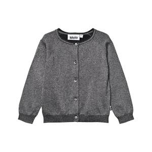 Molo Girls Jumpers and knitwear Silver Gladys Cardigan Dark Glitter