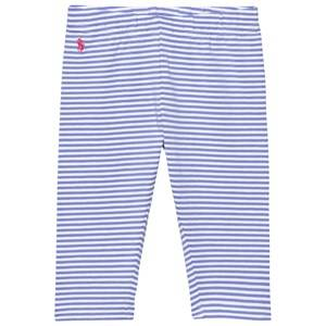Ralph Lauren Girls Bottoms Blue Striped Capri Leggings