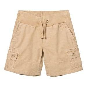 Ralph Lauren Boys Shorts Beige Cotton Ripstop Utility Short Boating Khaki