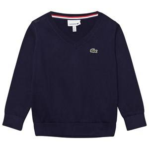 Lacoste Boys Jumpers and knitwear Navy Navy V Neck Jumper
