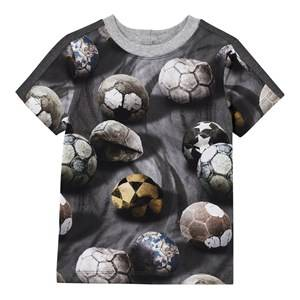 Molo Boys Tops Grey Rishi T-Shirt Dusty Soccer