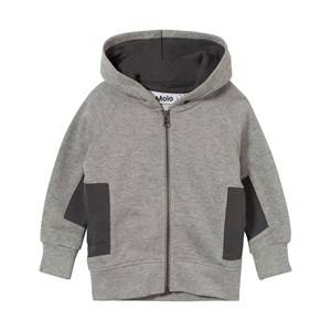 Molo Boys Jumpers and knitwear Grey Marlon Hoodie Iron Gate