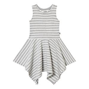 Molo Girls Dresses Grey Campbell Dress Grey Melange Stripe