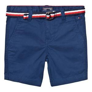 Tommy Hilfiger Boys Shorts Blue Blue Classic Belted Chino Shorts