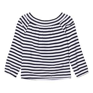 Tommy Hilfiger Girls Tops Navy Navy Off The Shoulder Top