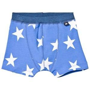 Molo Boys Underwear Blue Jon Boxer Briefs White Star Print