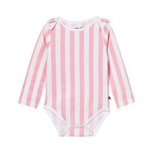 The BRAND Girls All in ones Pink Bow Onesie Pink Stripe