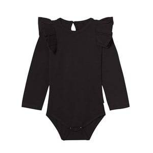 The BRAND Girls All in ones Black Flounce Onesie Black