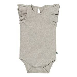 The BRAND Girls All in ones Grey Summer Flounce Baby Body Grey Melange