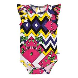The BRAND Girls Private Label All in ones Multi Summer Flounce Baby Body Multi Color