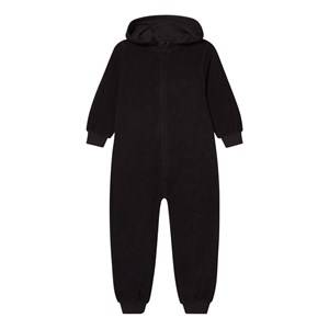 The BRAND Unisex Private Label All in ones Black Cotton Terry Onesie Black